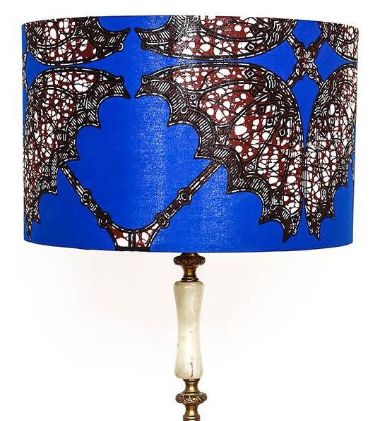 Ashanti umbrella print Lamp Shade Lifestyle
