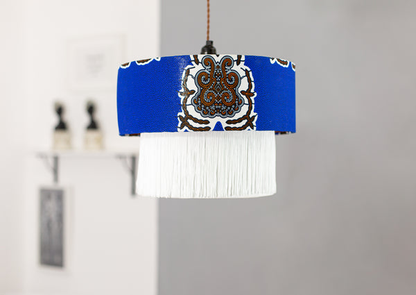 Ga City Blue Lamp Shade