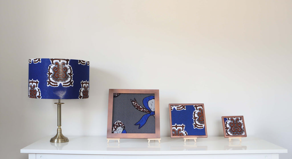 Lampshade & 3 Framed Canvas set