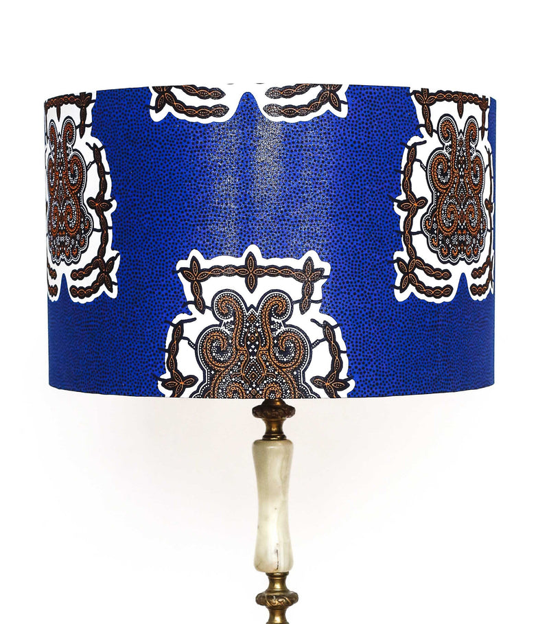 Ga blue print Lamp Shade Lifestyle