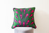 Ohemaa Pink Peacock Cushion Cover