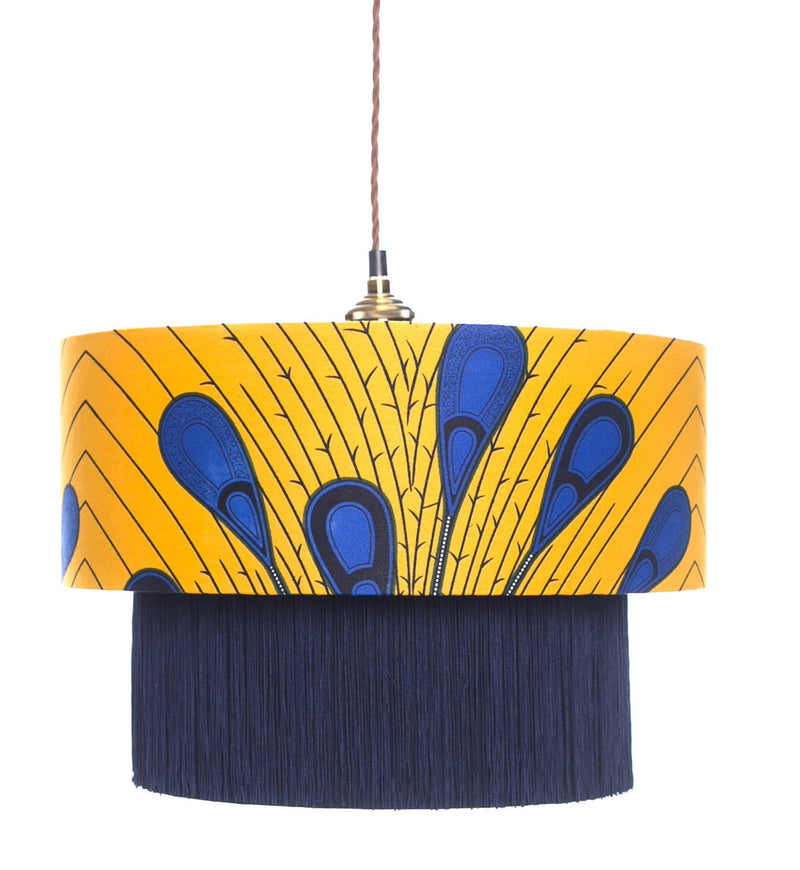 Madina Blue Peacock Lamp Shade