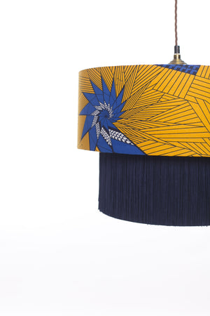 Teshie Blue Star lampshade close up