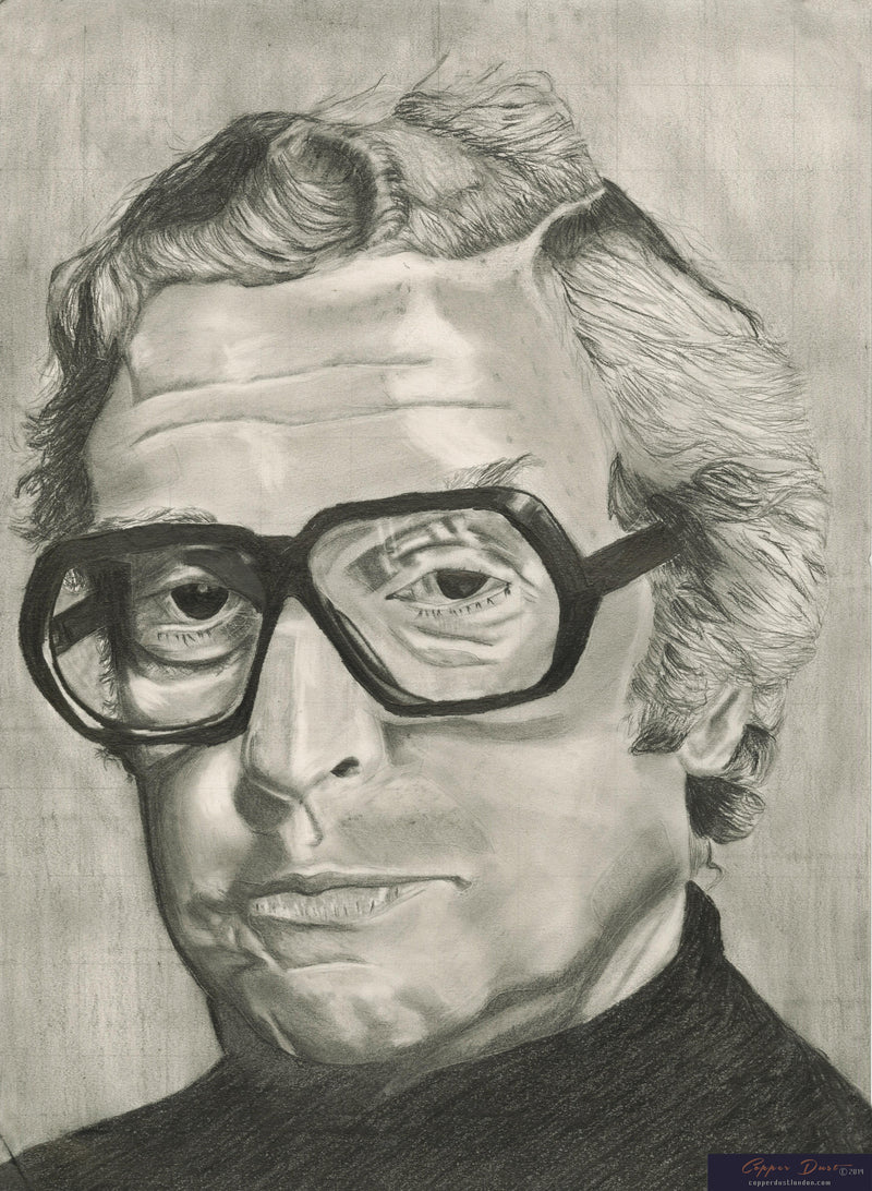 Michael Caine Black and White Portrait
