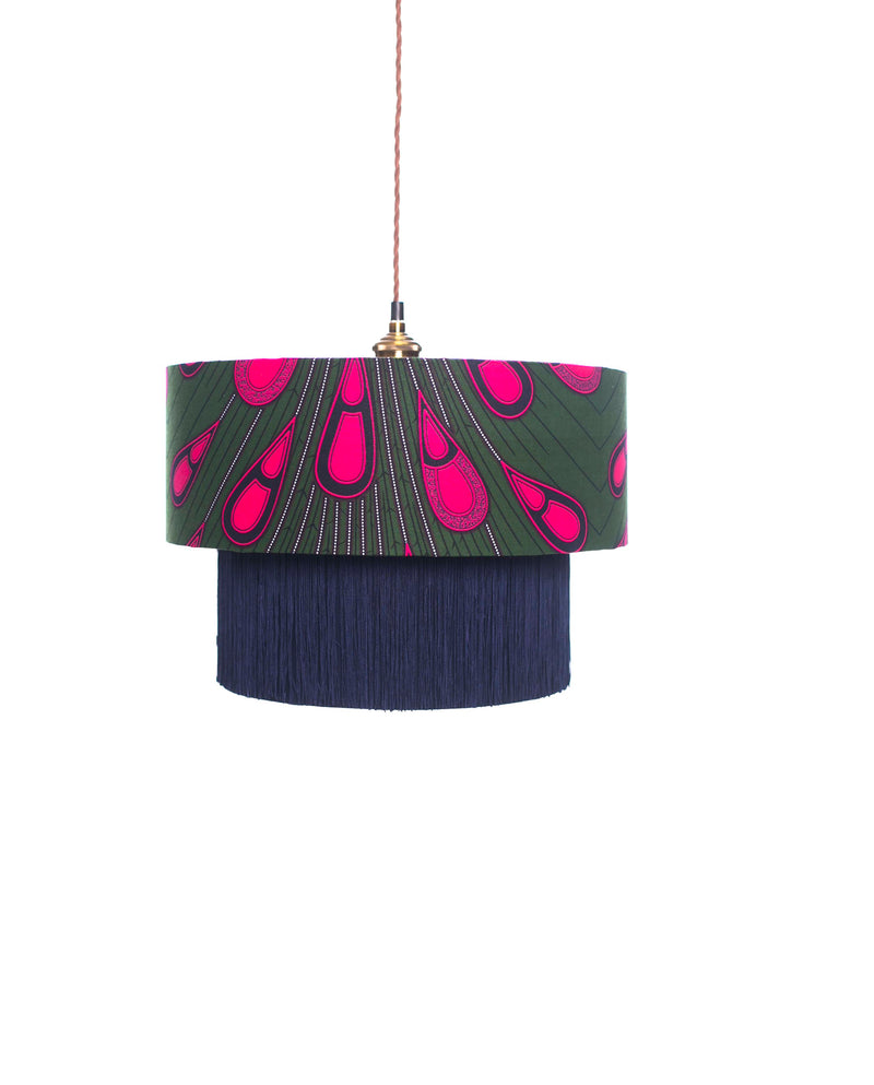 Ohemaa Pink Peacock Lamp Shade