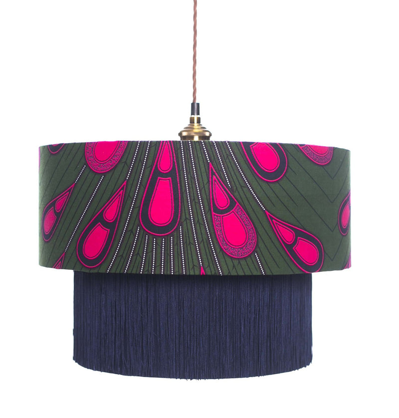 Ohemaa Pink Peacock Lamp Shade lifestyle