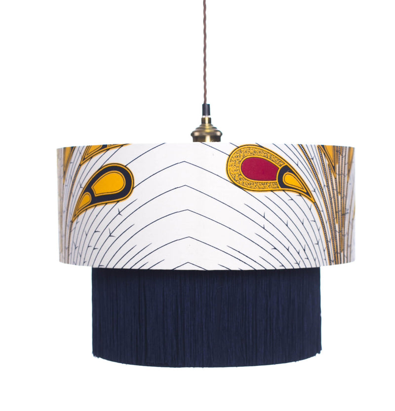Osu Yellow & Red Peacock Lamp shade