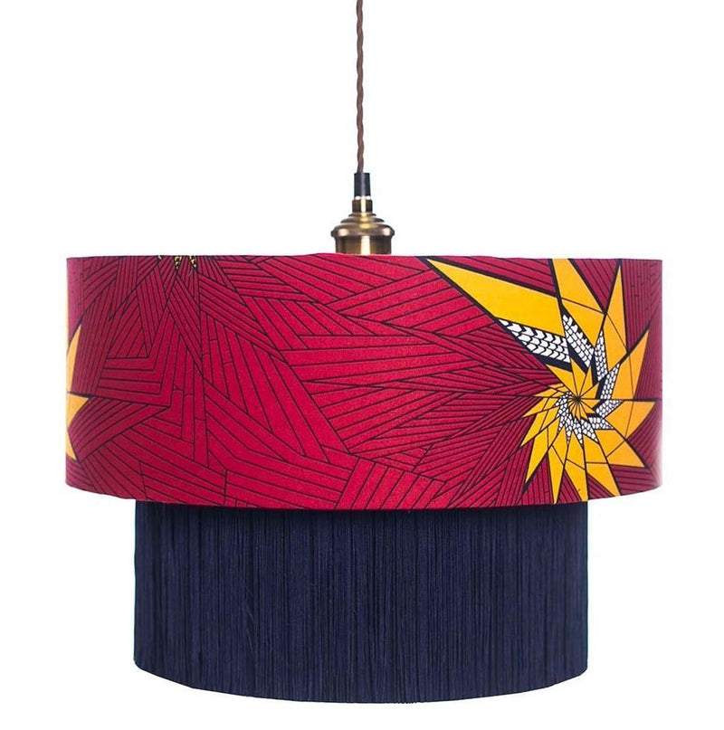 Handmade by Vanessa Taifa Yellow Star Lampshade