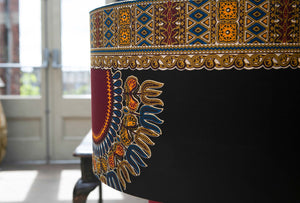 Yaw Burgundy Lamp Shade close up