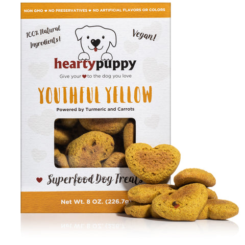 Youthful Yellow | Vegan Dog Snack Made of 100% Plant-Based Natural Superfoods ● Anti-Inflammatory Boost