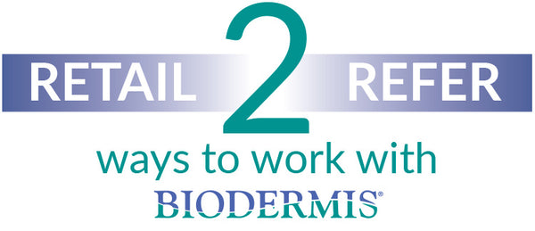 Retail or refer Biodermis products
