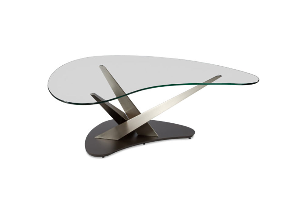 Crystal Boomerang Cocktail Table