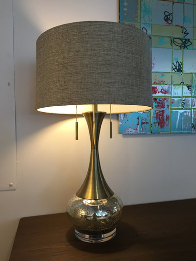 Aged Brass Table Lamp