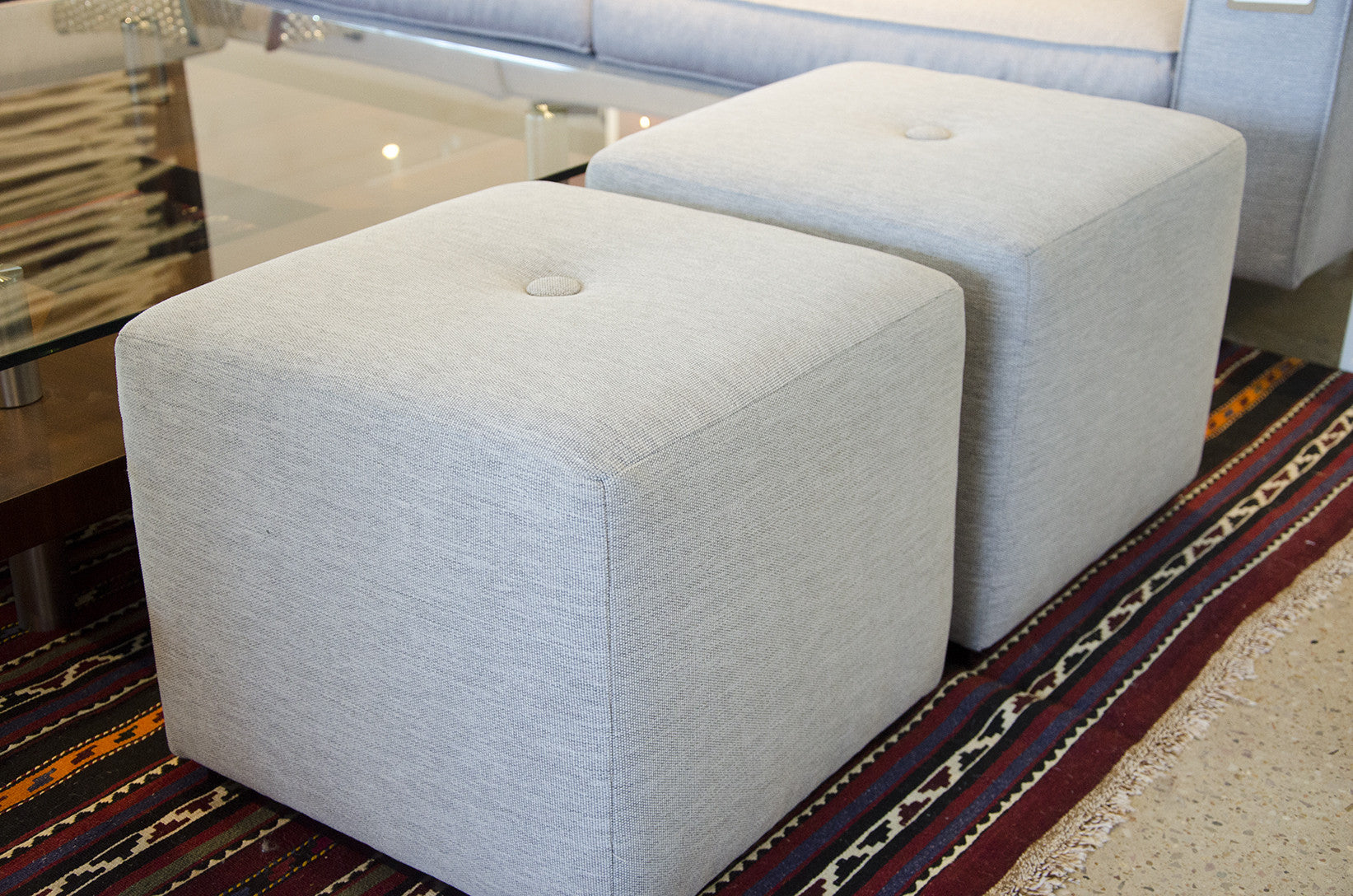 Cool Footstool Storage Cubes Fabric Storage Ottomans: Contemporary Cube Ottomans Customize At Five Elements