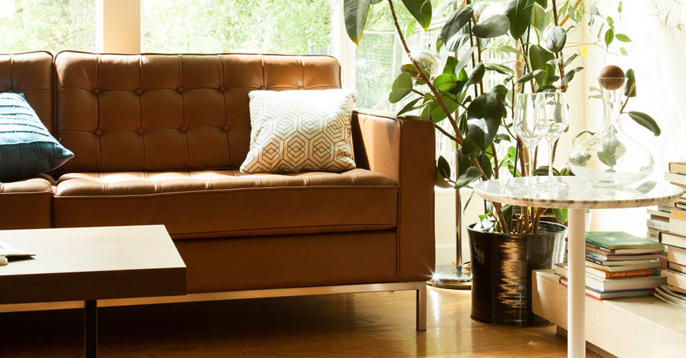 Reverie 2 Seat Leather Sofa