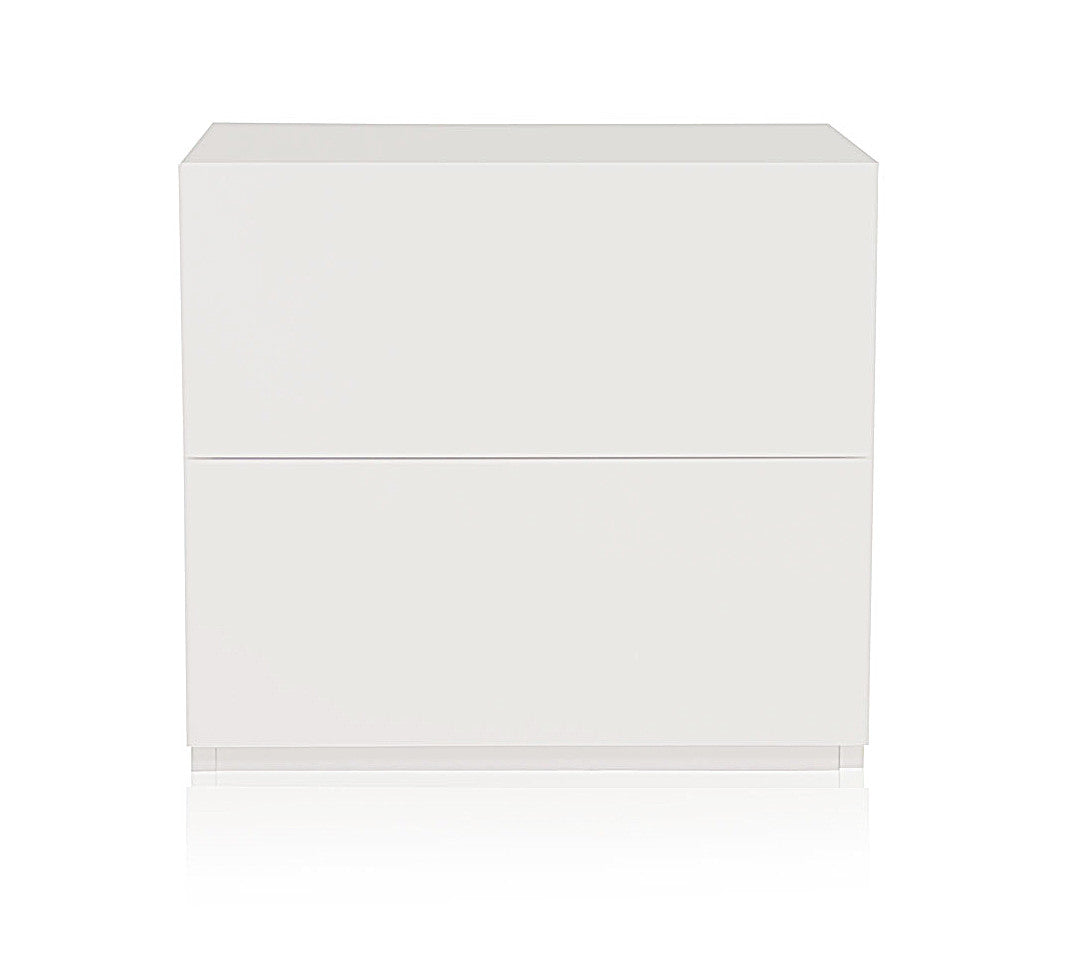 City Nightstand in White Lacquer