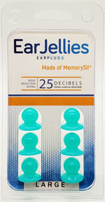 Load image into Gallery viewer, Green EarJellies Earplugs - 3 Pairs