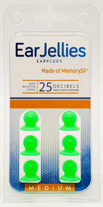 Load image into Gallery viewer, Fluorescent Green EarJellies Earplugs - 3 Pairs