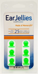 Fluorescent Green EarJellies Earplugs - 3 Pairs