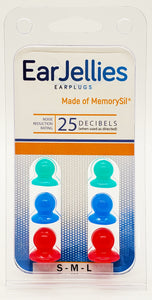 Variety Pack of EarJellies Earplugs - Small, Medium, Large