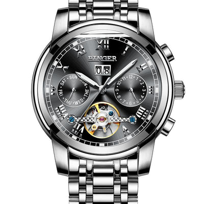 Binger Men Watches Stainless Steel Automatic Mechanical Watch B-8601 - Grmontre Watches