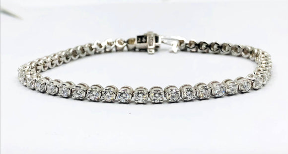 14K WG DIAMOND TENNIS BRACELET- 3.50CT