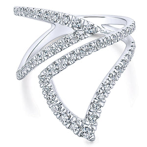 14K WG WOMEN'S DIAMOND RING BY GABRIEL& CO  0.81CT