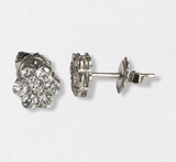 14K WG DIAMOND CLUSTER STUDS- 0.42CT