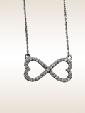 14K WG DIAMOND INFINITY HEART NECKLACE- 0.39CT