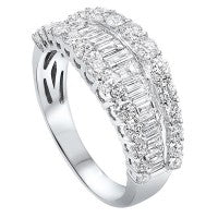 14K WG DIAMOND ROUNDS & BAGUETTES ANNIVERSARY BAND