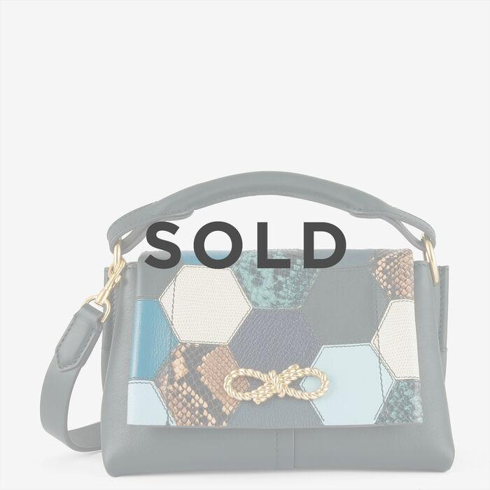 Patchwork Mini Rope Bow Bag