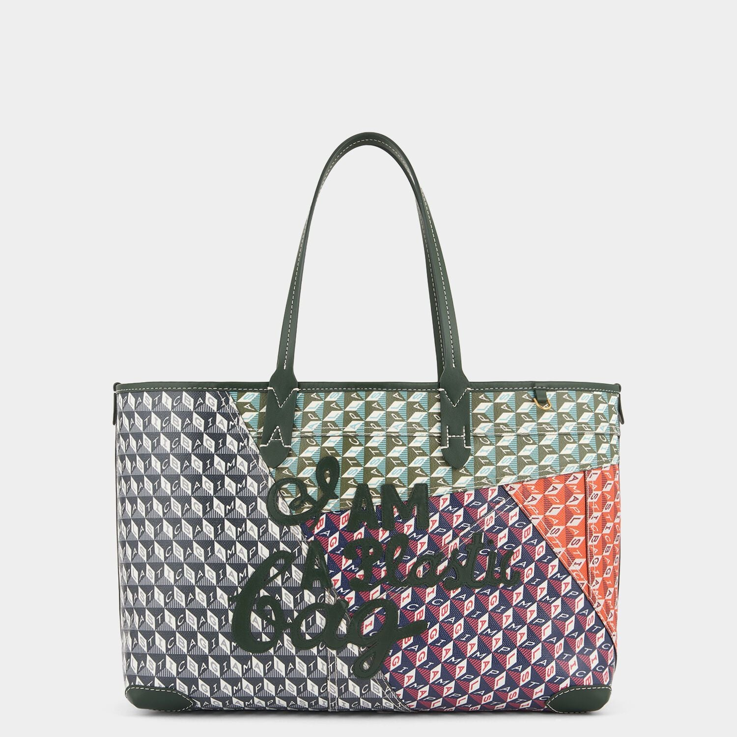 Patchwork I Am A Plastic Bag Small Motif Tote