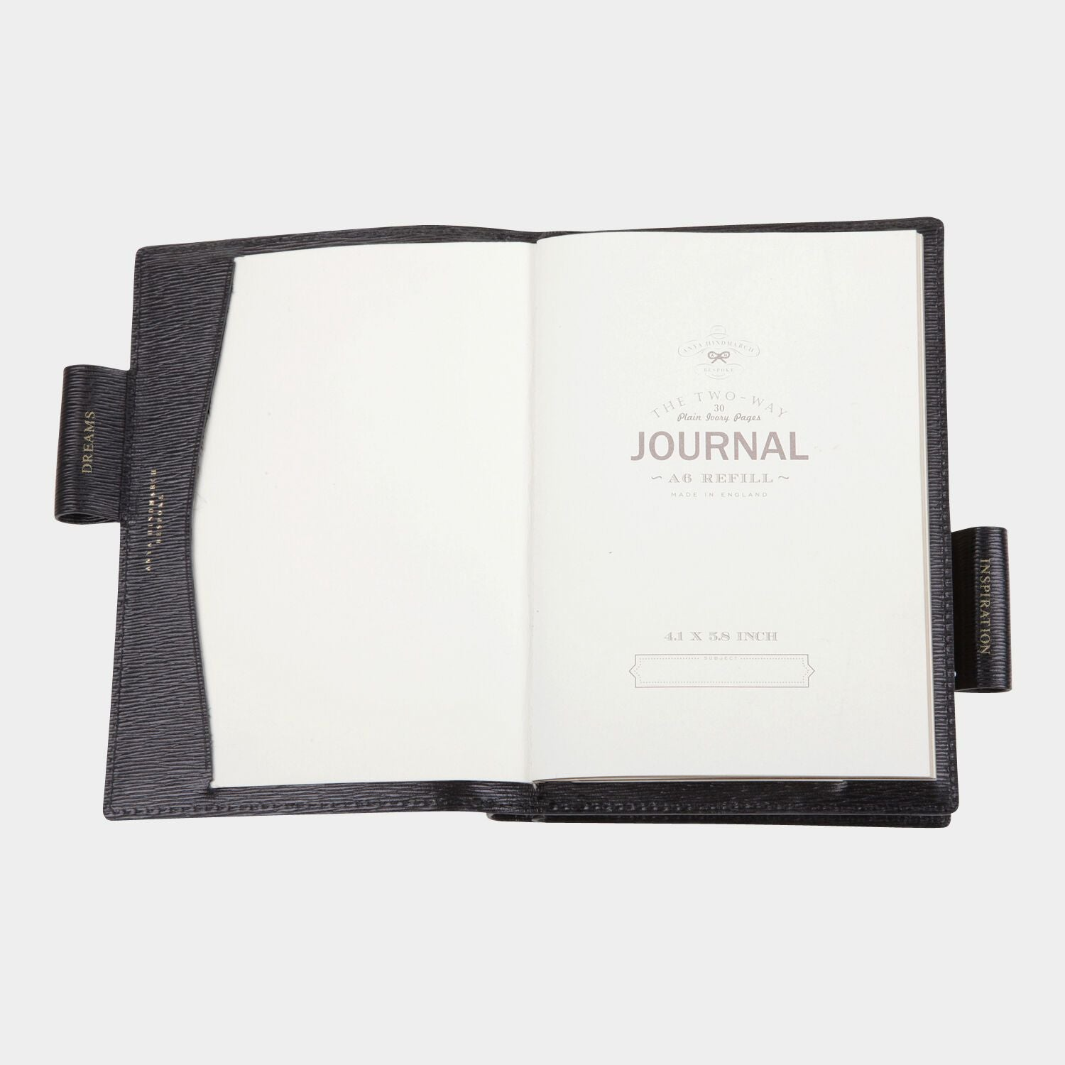 Bespoke A6 Two Way Journal