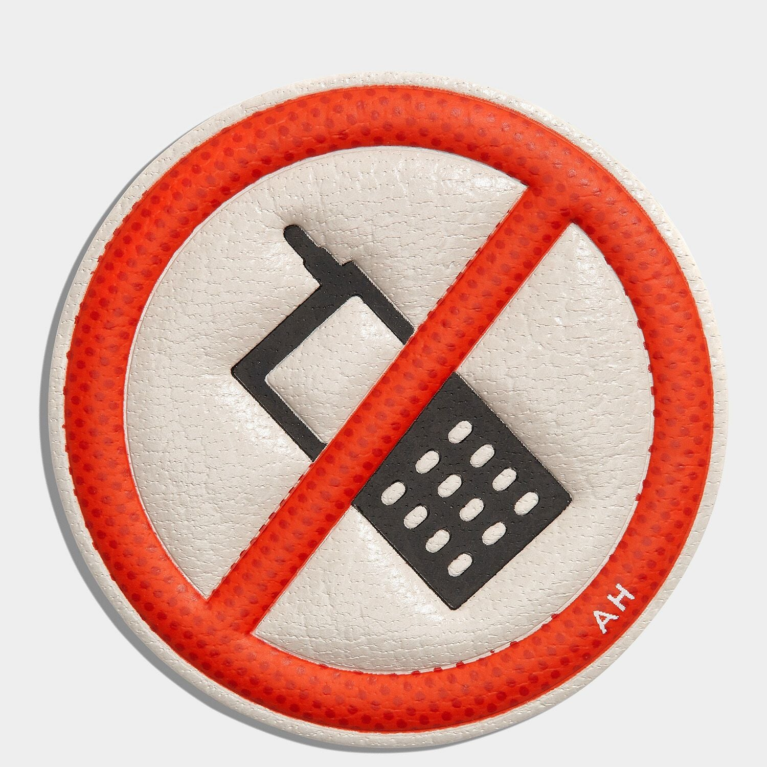 No Mobiles Leather Stickers
