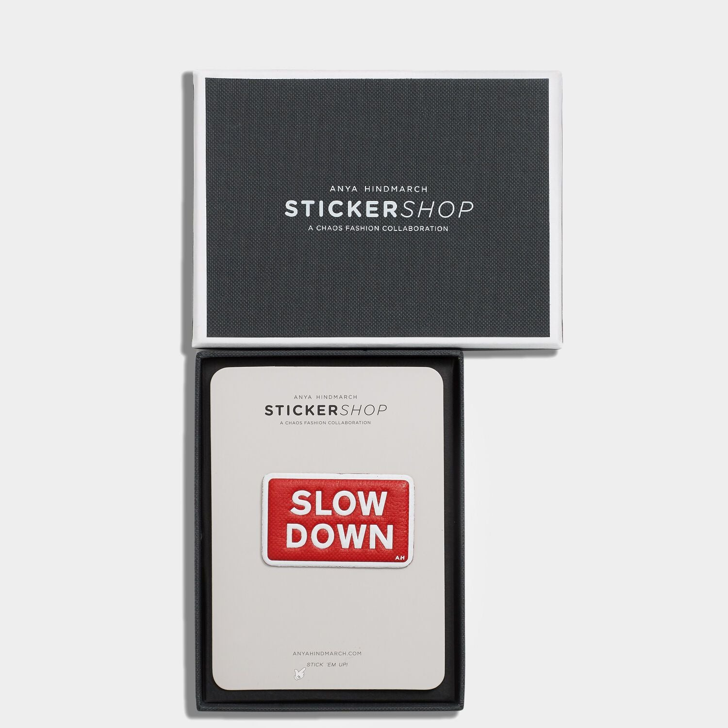 Slow Down Leather Sticker