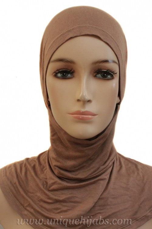 Tie Back Ninja Inner Underscarf-Light Brown