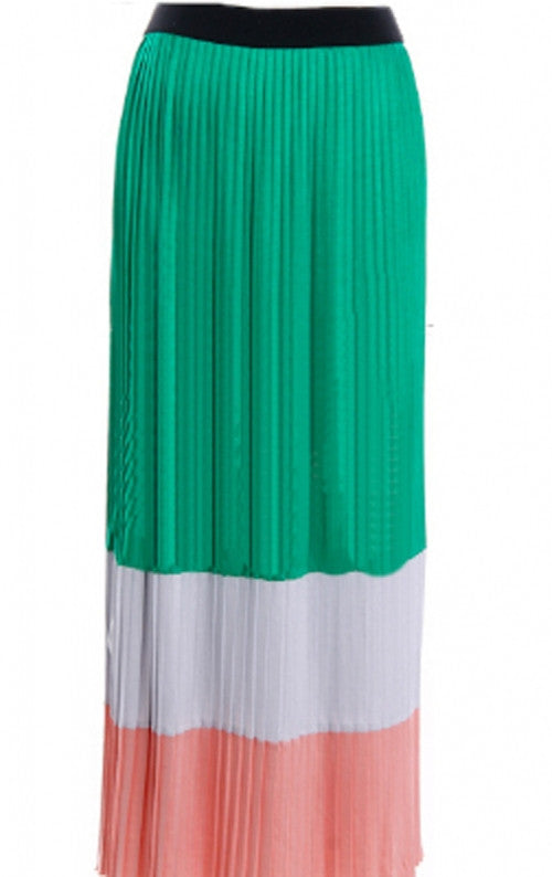 Maxi Skirt Striped Large-Green