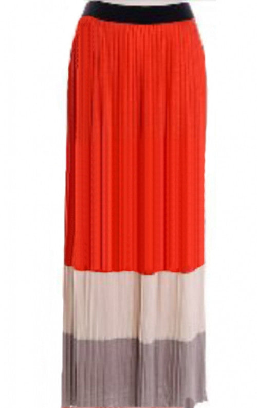 Maxi Skirt Striped Large-Coral