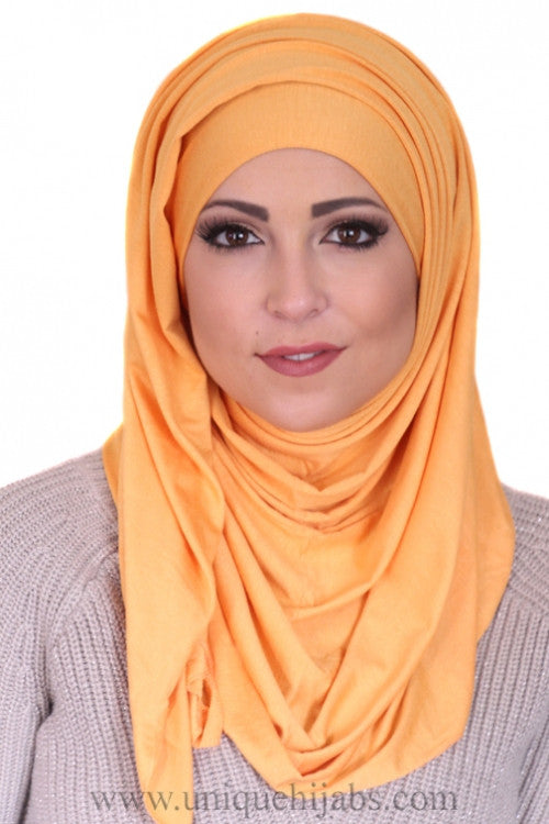 Jersey Hijab Basic-Orange
