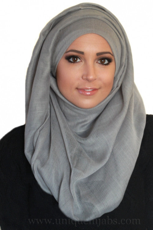 Light Maxi Hijab Luxury-Gray