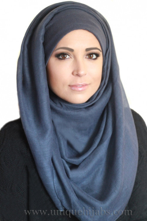 Light Maxi Hijab Luxury-Dark Gray