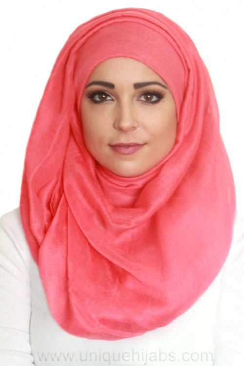 Light Maxi Hijab Luxury-Coral