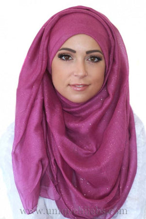 Light Hijab Gold Dust-Purple