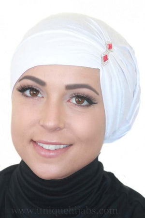 Tube Underscarf Diamond-White