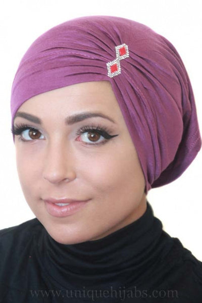 Tube Underscarf Diamond-Purple