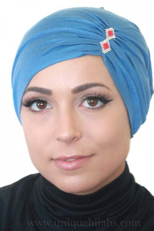 Tube Underscarf Diamond-Blue
