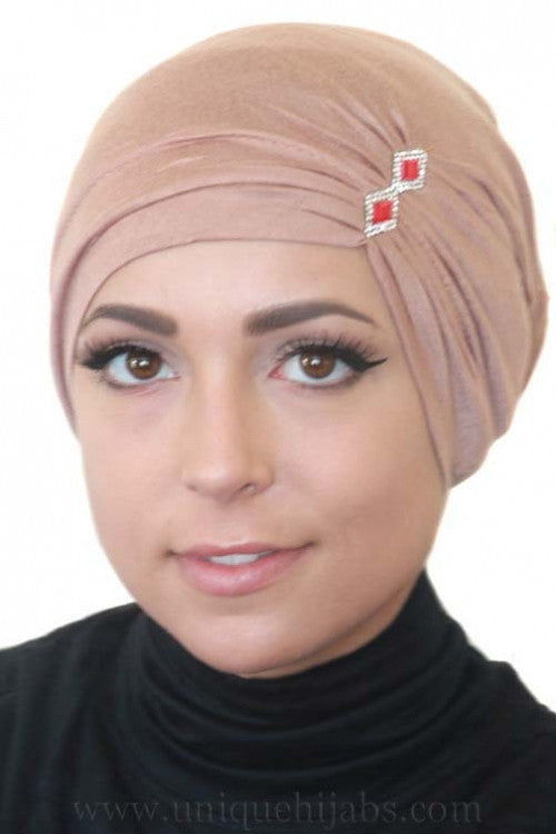 Tube Underscarf Diamond-Tan