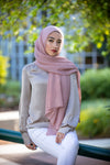 Pleated Light Hijab-Rose Pink