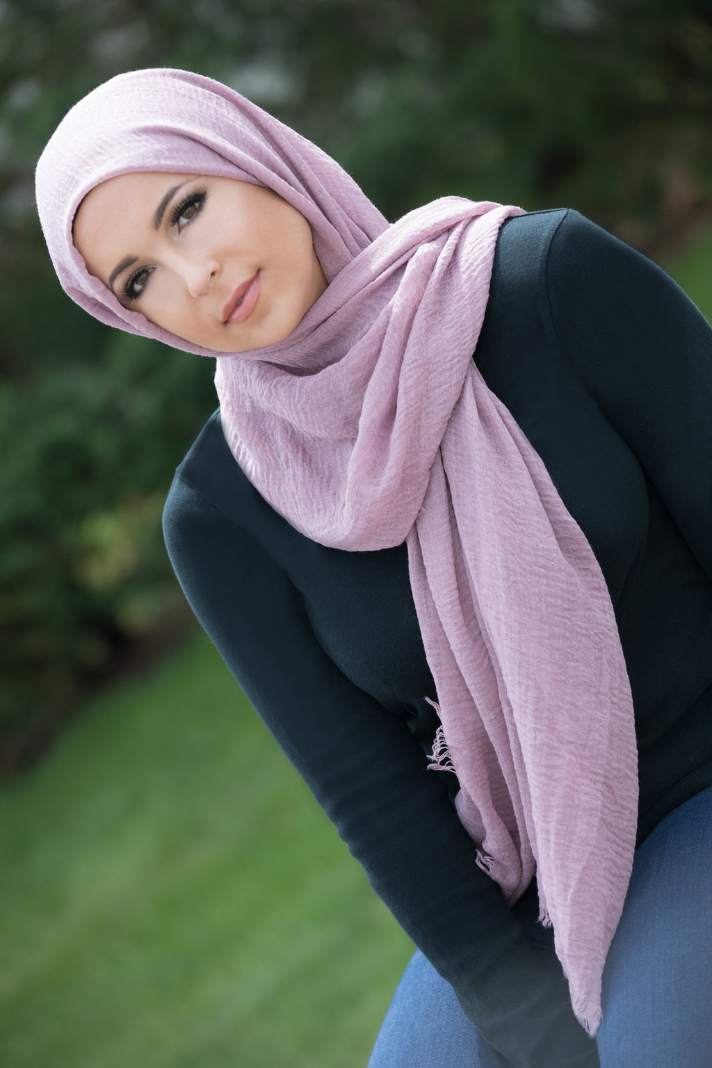 Premium Cotton Light Hijab-Lilac