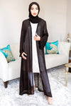 BLACK PEARL EDGE MAXI CARDIGAN